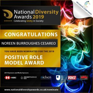 Noreen Burroughes Cesareo nominated for Positive Role Model Award for Gender