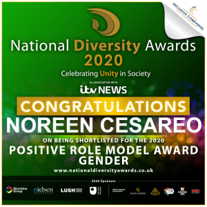 Noreen Cesareo shortlisted for the NDA Positive Role Model Gender